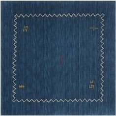 Safavieh Handmade Himalaya Blue Wool Gabbeh Area Rug (8' Square) | Overstock.com Shopping - The Best Deals on Round/Oval/Square