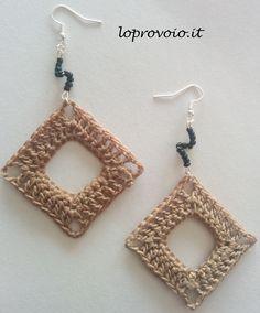 crochet tutorial for earrings ♥ ༺✿ƬⱤღ✿༻