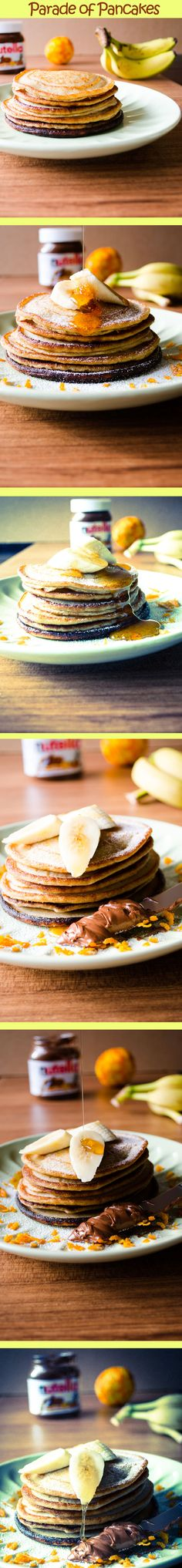 Banana Pancakes | #banana #pancakes #wholewheat | giverecipe.com