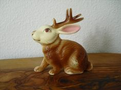 Plastic jackalope figurine by ELEMENTSOFBEAUTY on Etsy, $15.00