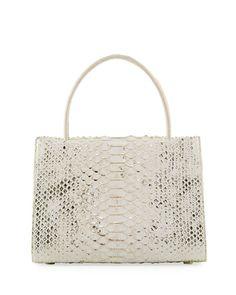 White Handbags at Neiman Marcus Fashion Bags, Fashion Accessories, Animal Print Purses, Nancy Gonzalez, Wallis, Python, Crocodile, Neiman Marcus, Luxury Fashion