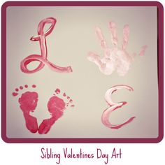 LOVE Sibling Print Craft for valentines day.