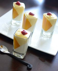 Best 12 Vanilla Panna Cotta, Mango Mousse, Recipes For Desserts Elegant Desserts, Fancy Desserts, Just Desserts, Dessert Recipes, Cheesecake Desserts, Raspberry Cheesecake, Best Vegan Chocolate, Chocolate Banana Bread, Dessert Shooters