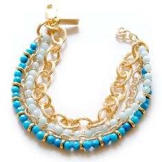 Olivia Bracelet - turquoise and gold. Gets me every time.