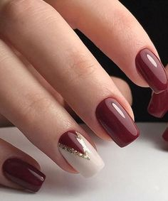 Trendy Nail Art Designs For 2019 - Art des Ongles Trendy Nail Art, Stylish Nails, Classy Nail Art, Gel Nagel Design, Short Nails Art, Fall Nail Designs, Christmas Nail Designs Easy Simple, Fall Nail Ideas Gel, Simple Christmas Nails