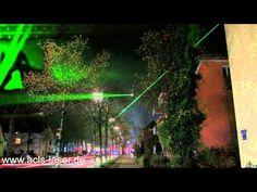 Lichtbrücke Aubing, Laserstrahl in Aubing - YouTube