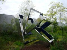 Perre's Ventaglio III by Beverly Pepper at Seattle Sculpture Park.