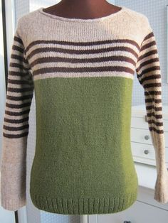 Ravelry: Project Gallery for ravello pattern by Isabell Kraemer Hand Knitted Sweaters, Sweater Knitting Patterns, Knit Patterns, Diy Pullover, Mens Fashion Sweaters, Sweater Fashion, Summer Knitting, Baby Knitting, Stripes