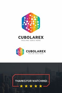 Cubolarex Logo: multifunctional logo that can be used in technological companies, in companies and applications for software development, construction Data Logo, Software Development, Logo Templates, Anime Art, Logo Design, Ads, Logos, Collection, Logo