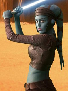 Aayla Secura, born Aaylas'ecura, was a Rutian Twi'lek Jedi Master in the later days of the Republic, who served with distinction as a General during the Clone Wars. She served as a Padawan under the tutelage of Quinlan Vos, and later, Vos' own master Tholme. Both Secura and Vos survived a brush with the dark side early in their Jedi training, though she later proved herself worthy of knighthood.