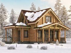 Дом из бревна, проект дома «Удачный — 149»