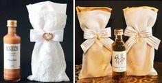 Mini licor como lembrancinha de casamento