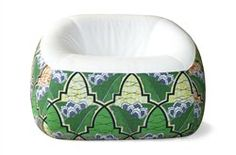 """Kinda like the new bean bag, the Swamp """"chair"""" by Michiel van der Kley is found at Artifort. Lots of wonderful patterns to choose from!"""