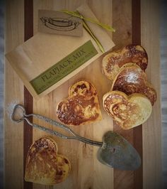 Heart-y Flapjack Breakfast Box SMALL – Copper Pot & Wooden Spoon Raspberry Rhubarb Jam, Strawberry, Heart Shaped Pancakes, Valentines Breakfast, Food Spot, Tasty Pancakes, Artisan Food, Great Recipes, Treats