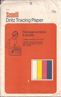 Vintage Dritz Tracing paper