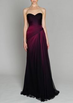 (2) Tumblr  everythingsparklywhite  Monique Lhuillier  Great bridesmaid dress color for fall/winter