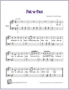 recorder music for pat a pan wee sing Christmas Piano Sheet Music, Easy Piano Sheet Music, Free Sheet Music, Christmas Music, Piano Lessons, Music Lessons, Piano Songs For Beginners, Keyboard Lessons, Printable Sheet Music