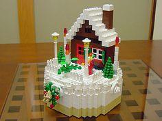 Lego Christmas cake