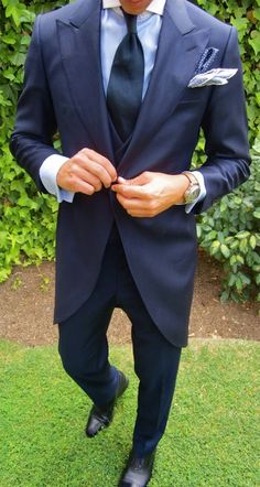 #Tuxedo - Love this blue tux #fashion & #style