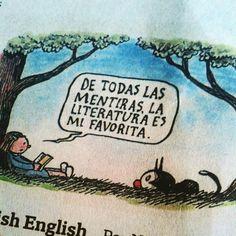 Liniers, toda la sabiduría en un pedacito de papel de diario. @megustaleer @QueLeer