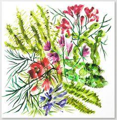 Sanziana Toma-Danila on Behance Pattern Design, Cactus, Behance, Posters, Watercolor, Illustration, Artwork, Plants, Prickly Pear Cactus