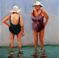 """""""Front and Back"""" carol morgan carmichael.  Her 'Boston Ladies' series is just plain fun... I love her style!"""