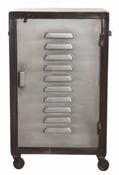 Housedoctor Nachtkastje 'Firm' metaal grijs/zwart 41x41x67cm