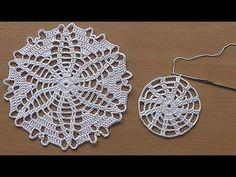 CROCHET doily Tutorial Pattern Crochet Motif How to crochet doily Part Part 2 https:& Crochet doily tablecloth Crochet doily table ru. Col Crochet, Crochet Eyes, Filet Crochet, Hand Crochet, Blanket Crochet, Crochet Hairband, Crochet Tools, Crochet Round, Lace Doilies