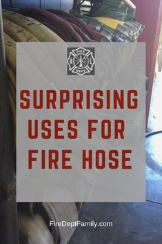 surprising and useful ideas for fire hose, from stuff around the fire station to things for the firefighter. Firefighter Training, Firefighter Family, Firefighter Decor, Firefighter Quotes, Volunteer Firefighter, Firefighters Wife, Firemen, Fire Hose Projects, Fire Hose Crafts