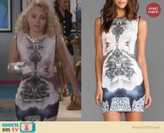 Carrie's mirrored print dress on The Carrie Diaries. Outfit Details: http://wornontv.net/25135 #TheCarrieDiaries #fashion