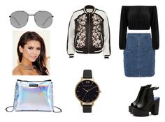 """""""outfit #174"""" by anaguilhermep98 on Polyvore featuring Balmain, River Island, Elizabeth and James, Olivia Burton, cool, black, skirt and balmain"""