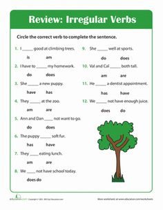 Help your second grader get to know the irregular verbs to be, to do, and to have with this fill-in-the-blank worksheet.
