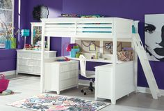 Sandi Ii Kids Furniture 5 Pc Loft Bed Leon S Kid S
