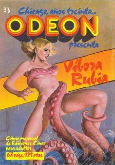 Odeon - Vibora Rubia | pulp erotic science fiction comics cover art:
