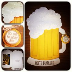 Beer Mug gift card holder using Jaded Blossom stamps and SVG Cutting Files cut.  Made by Styles by Stefani