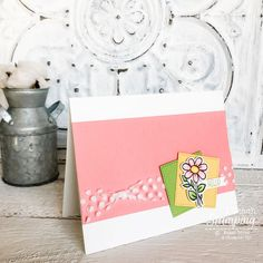 Make this easy floral card with just a few supplies and a handful of minutes. It so much fun to pop joy into someone's physical mailbox with a handmade card. Floral Card, Alcohol Markers, Glitter Cards, Card Sketches, Embossing Folder, Handmade Flowers, Free Paper, Greeting Cards Handmade, Mailbox