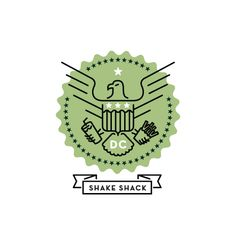 Shake Shack logo by Patrick Macomber, positively federal! :)