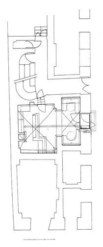 Kleines Café, Plan: Hermann Czech Floor Plans, How To Plan, Drawings, Sketches, Draw, Drawing, Floor Plan Drawing, Pictures, Paintings