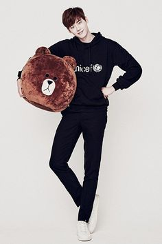 Leejongsuk meet Brown Bears in LINE x Unicef