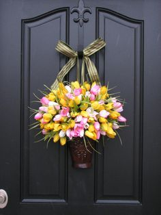 Spring Tulips Outdoor Wreath