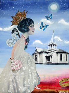 fairy art - Original collage by Shawn Marie Hardy