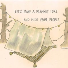 A cozy, wonderful blanket fort retreat from the world. {Introvert} {Blanket Forts for Adults}