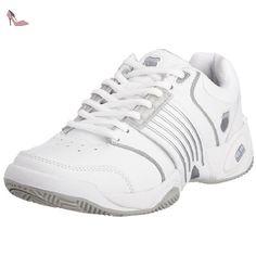 K-Swiss Accomplish LS - Chaussures Tennis - Terrain dur Femme - Blanc (Blanc  /  Platinum) - 37 EU (4 UK) - Chaussures k swiss (*Partner-Link)