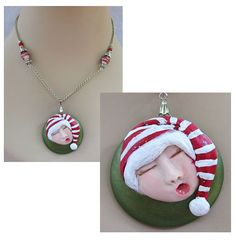 Sleeping Elf Pendant Necklace Jewelry Handmade by britpoprose99, $14.99