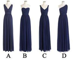 navy blue bridesmaid dresses long bridesmaid dress by fitdesign, $119.00