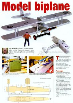 Model Biplane Plans - Children's Wooden Toy Plans and Projects Model Biplane Plans - Children's Wooden Toy Plans and Projects Wood Projects For Kids, Wooden Projects, Woodworking Plans, Woodworking Projects, Wooden Airplane, Wooden Bicycle, Wood Toys Plans, Making A Model, Carving Designs