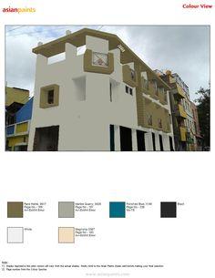 Asian Paints Colour Shades, Asian Paints Colours, Paint Shades, Color Shades, Paint Colors, Exterior Paint Color Combinations, Color Combinations Home, Exterior Colors, Shade Card