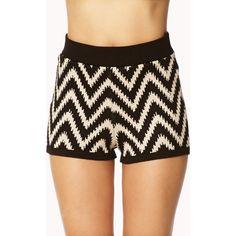Forever 21 Daring Zigzag Shorts (41 BRL) ❤ liked on Polyvore featuring shorts, forever 21 shorts, forever 21 and lightweight shorts