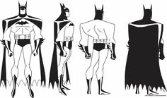 Done with the official model sheet as well as an unused concept art from Batman: TAS.