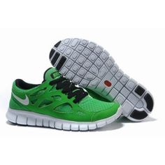 new style cf38f 0fb0a Billig h y kvalitet Menn Nike Free Run Plus Grønne Hvite Sko Nike Free Run